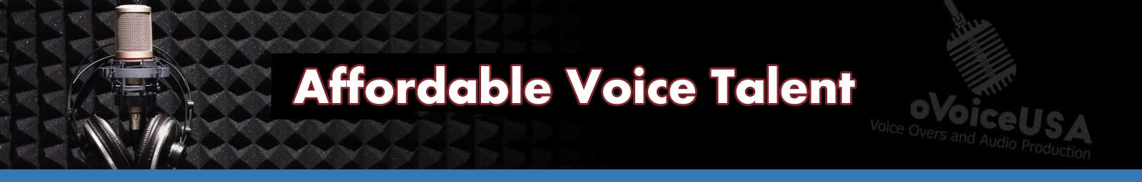 Affordable Voice Talent header
