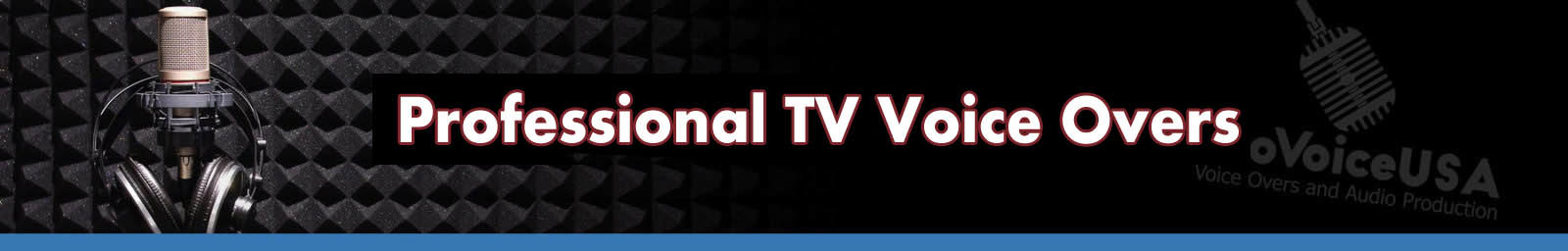 Professional TV Voice Over Header