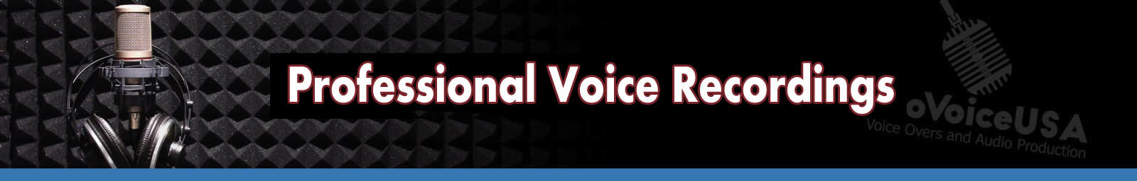 Professional Voice Recordings Header