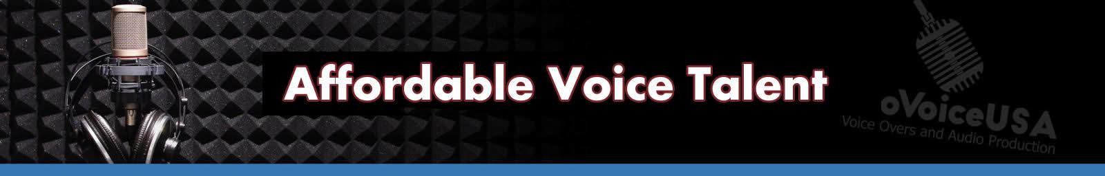 Affordable Voice Talent header