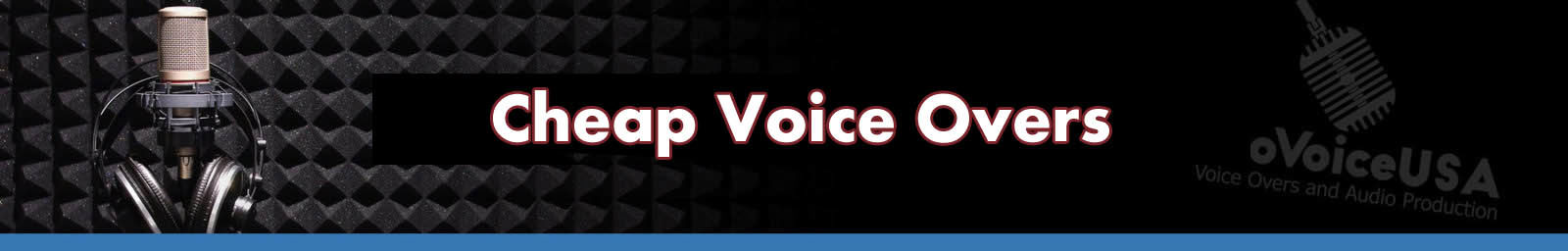 Cheap Voice Overs header