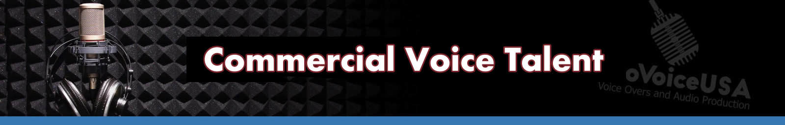 Commercial Voice Talent header