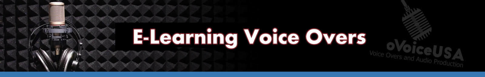 E Learning and Training Voice Overs header