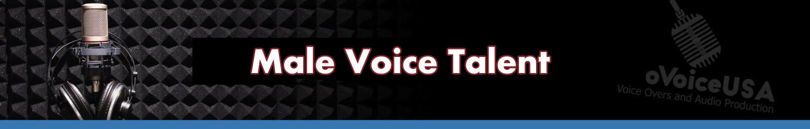 Male Voice Talent Header