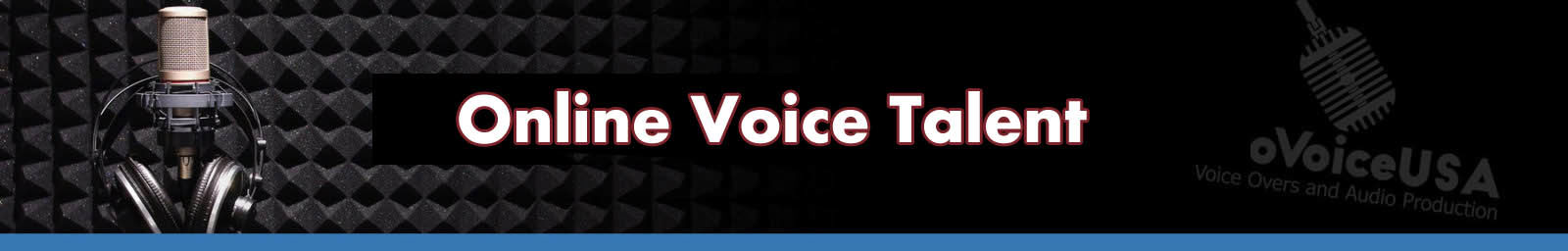 Online Voice Talent Header