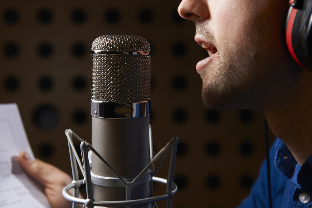 Male Talent Recording an Effective Voice Over